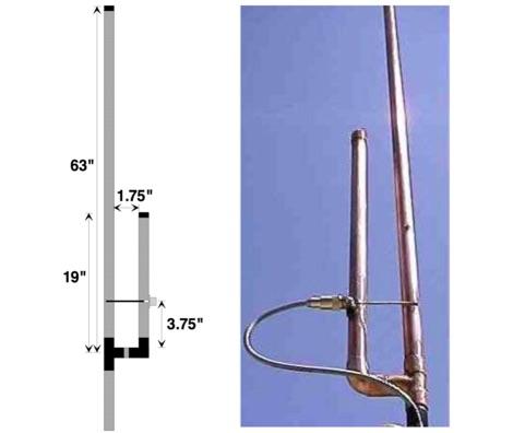 DXZone The simple 144/440 copper pipe J