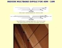 DXZone Indoor multiband dipole