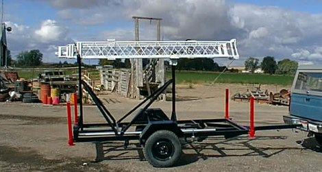 Portable Antenna Tower Trailer