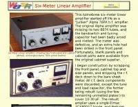 Six-Meter Linear Amplifier