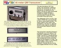 DXZone 40 meter QRP Transceiver