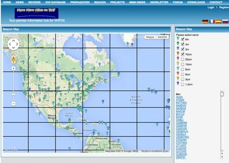 VHF UHF European Beacons