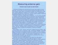 Measuring antenna gain