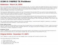 IC-746PRO TX Problem