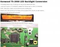 Kenwood TS-2000 LED Backlight Conversion