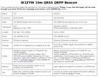 DXZone IK1ZYW 10m QRSS QRPP Beacon