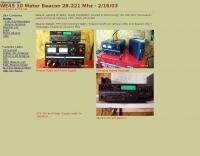 WE4S 10 Meter Beacon 28.221 Mhz