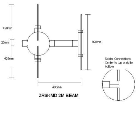 DXZone ZR6KMD 2M Beam Antenna