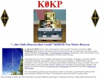 K0KP 10 Meter QRPp Beacon
