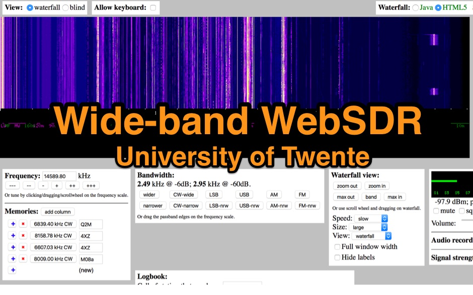 WebSDR on 20m, 40m and 80m