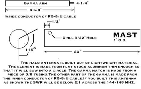 DXZone 2 meter halo antenna