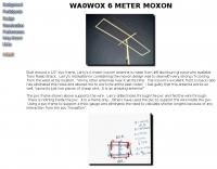 WA0WOX 6 meter Moxon Antenna