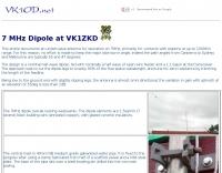 DXZone 7 MHz Dipole at VK1ZKD