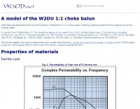 A model of the W2DU 1:1 choke balun