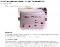 DXZone 144 MHz PA with MRF317
