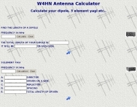 W4HN Antenna Calculator