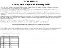 Cheap and simple HF dummy load