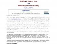 DXZone Building a dummy load