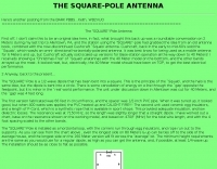 The Square Pole antenna