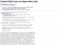 [TowerTalk] Coax Vs Open Wire Line