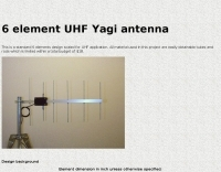 6 element UHF Yagi antenna