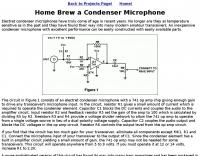 Home Brew a Condenser Microphone