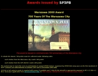 Awards issued by SP5PB