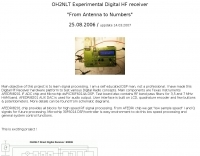 OH2NLT Experimental Digital HF Receiver