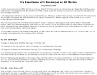 DXZone Beverages on 40 Meters