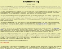 Rotatable Flag Antenna for 160 meters