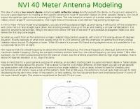 NVI 40 Meter Antenna Modeling