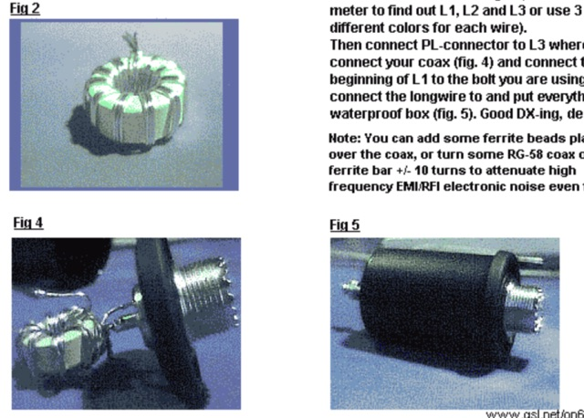 DXZone Homebrew RF chocke - Magnetic Longwire Balun
