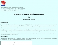 A 60cm S-Band Dish Antenna