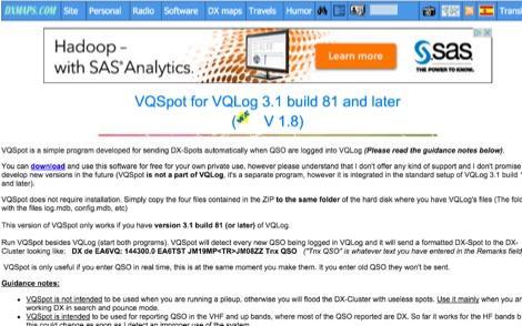 VQSpot for VQLog
