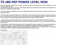 TS480 power level mod