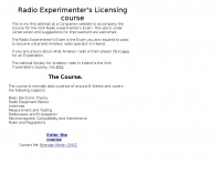 Radio Experimenter's Licensing course