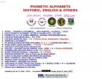 Phonetic Alphabets, Historic, English & Others