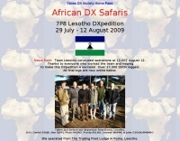 DXZone 7P8 Lesotho DXpedition 2009