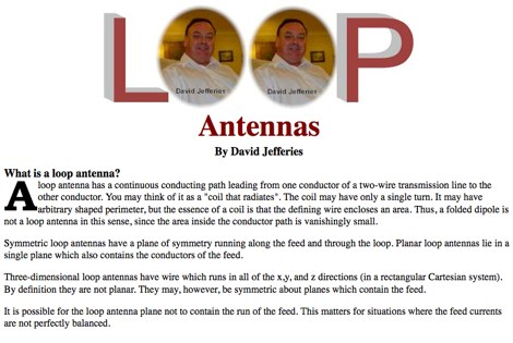 What is a loop antenna?