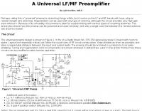 LF/MF Preamplifier