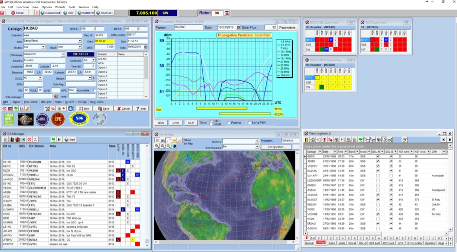 software loging Amateur radio