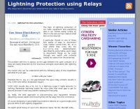 Lightning Protection using Relays