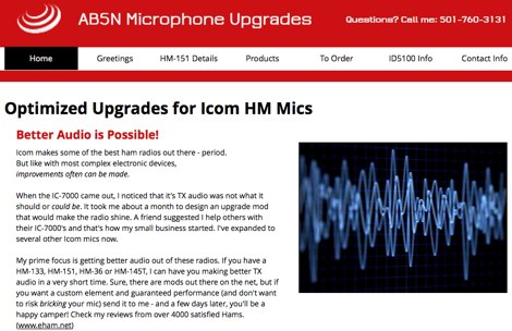 IC-7000 Mic Upgrade