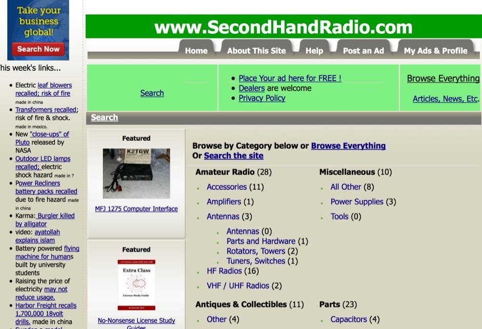 DXZone SecondHandRadio.com