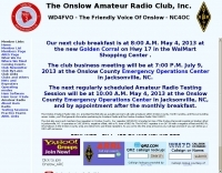 DXZone Onslow Amateur Radio Club - WD4FVO - The Friendly Voice Of Onslow