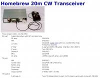 20m CW Transceiver