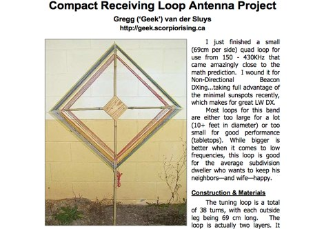 Compact receiving loop antenna