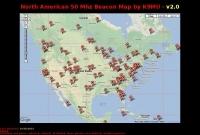 DXZone North American Beacons Map