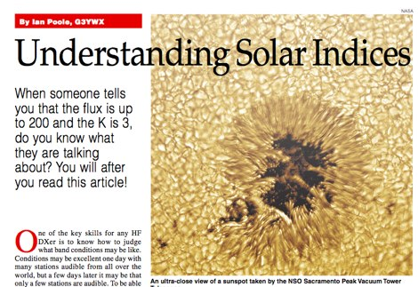 DXZone Understanding Solar Indices