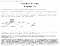 Cross Band Repeating